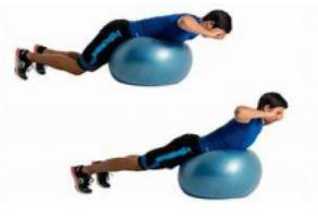 Figura 5: back extension su fitball