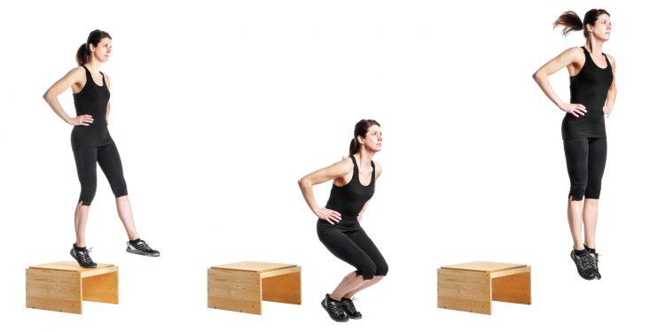 XB, horizontal, woman, athlete, gym, drop jump, training, plyometrics, exercise, female, performance, strenght, explosiveness